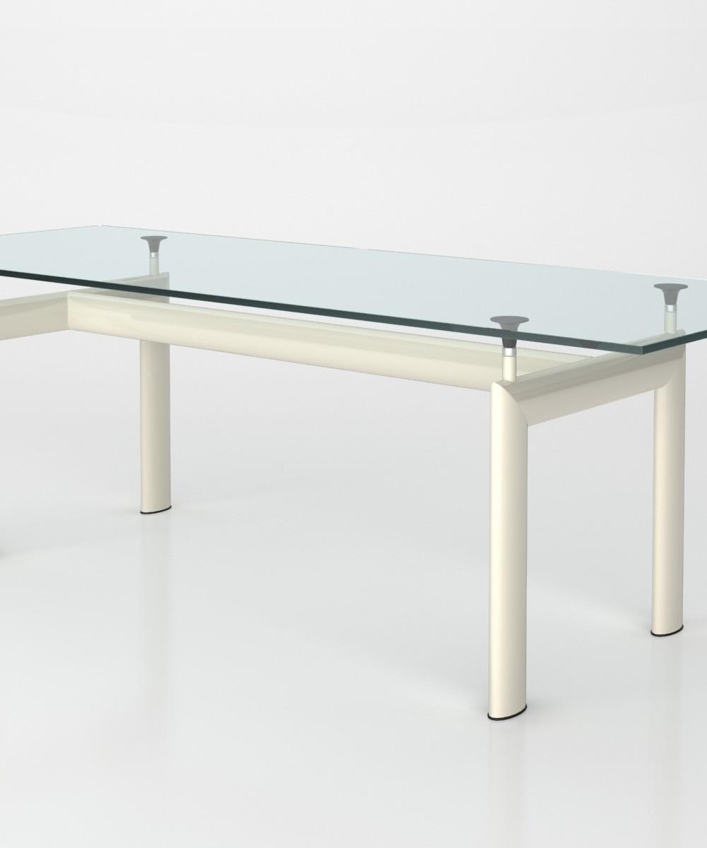 Tavolo bauhaus con piano arredamento bauhaus - Tavolo cristallo le corbusier ...